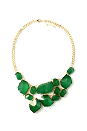 Gorgeous Jeweled Bold Statement Necklace-Green