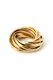 Layered Multiple Ring Set-Gold