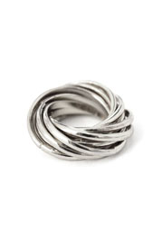 Layered Multiple Ring Set-Silver