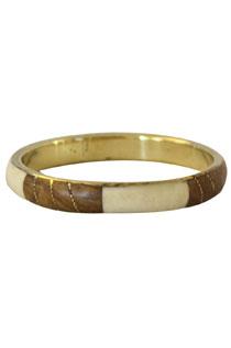 Shell & Wood Bracelet/Bangle-Cream