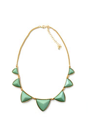 Triangle Statement Necklace-Mint Green