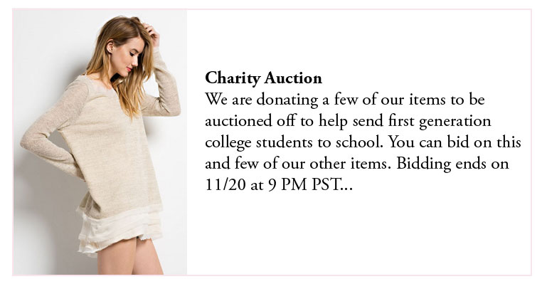 Fashion Junkee - Charity Auction