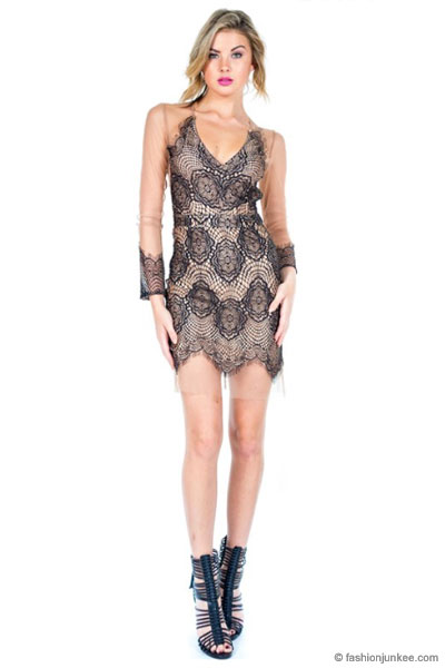 Sexy Sheer Mesh And Lace Deep