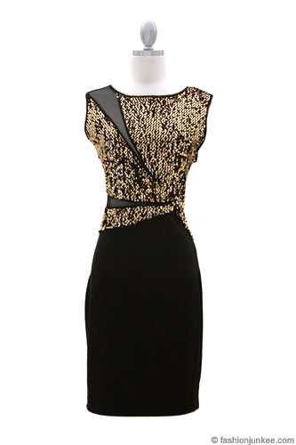 black and gold plus size club dresses - holiday dresses