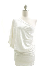 *FLASH SALE* Sequin One Shoulder Mini Dress-White