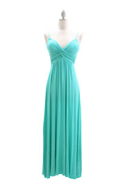Jersey Spaghetti Strap Long Maxi Dress-Mint Green