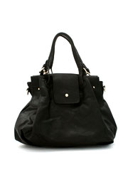 Large Basic Slouchy Handbag-Black