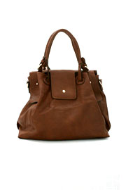 Large Basic Slouchy Handbag-Brown