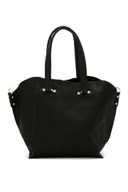 Large Double Handle 2-in-1 Bucket Handbag Tote-Black