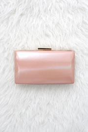 :As Seen In PEOPLE STYLEWATCH Magazine: Simple & Elegant Hard Clutch-Pink