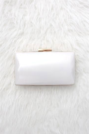 :As Seen In STYLEWATCH Magazine: Simple & Elegant Hard Clutch-White