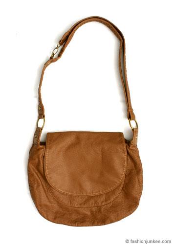 Basic Hobo Messenger Bag, Cross Body Purse-Camel Brown