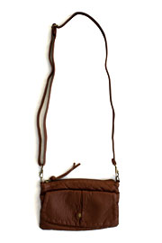 Small Crossbody Messenger Clutch Purse-Brown
