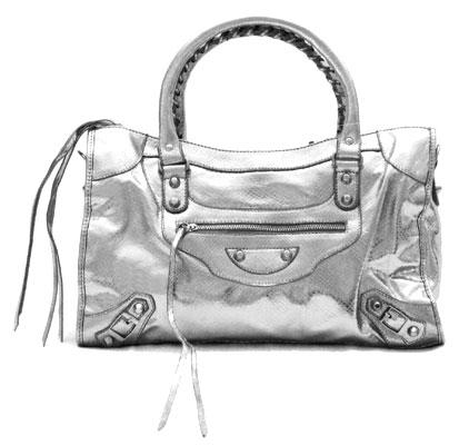 Metallic Tassle Motorcyle Bag, Snake Skin-Silver :  large bag snake skin bag motorcycle bag balenciaga inspired purse