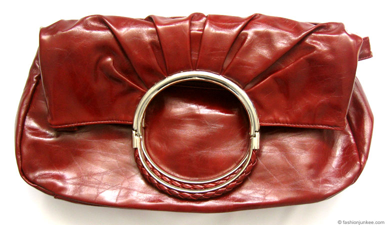 :Inspired by Dior: Patent Foldover O-Ring Clutch and Purse-Red :  purse red patent clutch
