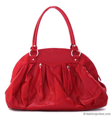 :Inspired by Marc Jacob: Oversized, Large Patent Round Handbag-Red :  handbag purse large red