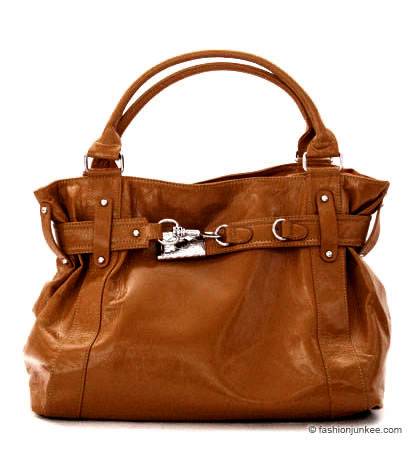 :Inspired by Prada: Oversized Large Patent Double Handle Tote Bag-Camel