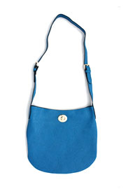 Basic Simple Buckle Hobo Messenger Bag, Cross Body Purse-Blue