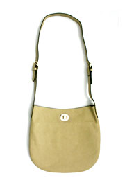 Basic Simple Buckle Hobo Messenger Bag, Cross Body Purse-Taupe