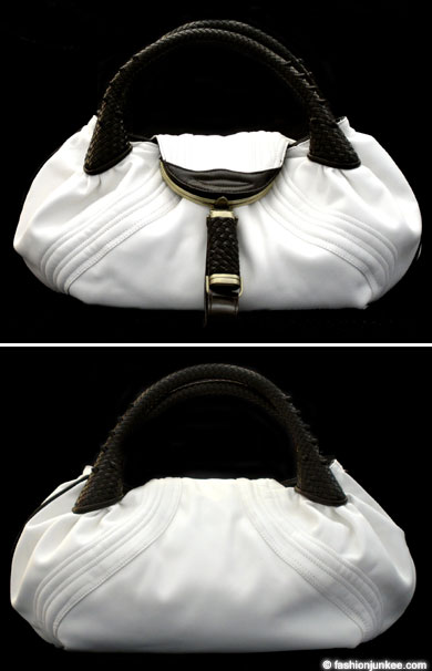 :Inspired by Fendi: Oversized Detective Spy Bag-White & Brown :  handbag bag hobo oversized