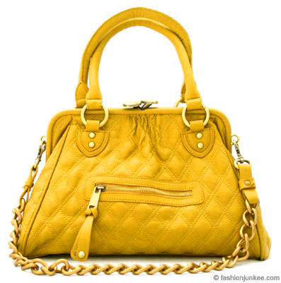 :Inspired by Marc Jacob: Oversized, Large STAM Quilted Chain Handbag-Yellow :  oversized bag hobo purse hobo bag hobo handbag quilted bag stam bag marc jacob bag yellow handbag handbags