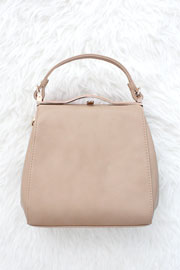 :As Seen In PEOPLE STYLEWATCH Magazine: Classic Top Handle Purse-Taupe