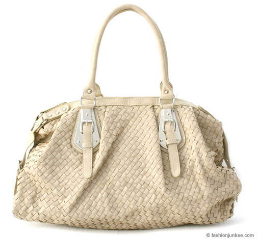 :As Seen in PEOPLE MAGAZINE: Oversized Large Wide Woven Handbag Tote-Beige