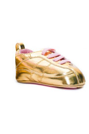 Trumpette Baby Tracks Metallic Shoes / Sneakers-Gold & Pink (6-24 months)