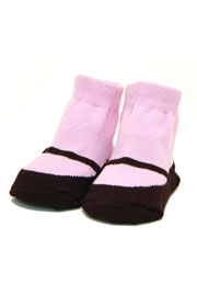 Trumpette MaryJanes Socks-6 Pairs in Pastel Colors (0-12 Months)