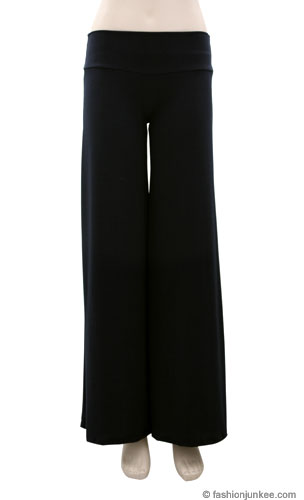 Boho/Palazzo Long Gaucho Pants-Black (10% OFF!)