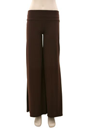 Boho/Palazzo Long Gaucho Pants-Brown