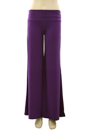 Boho/Palazzo Long Gaucho Pants-Purple