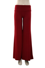 Boho/Palazzo Long Gaucho Pants-Red