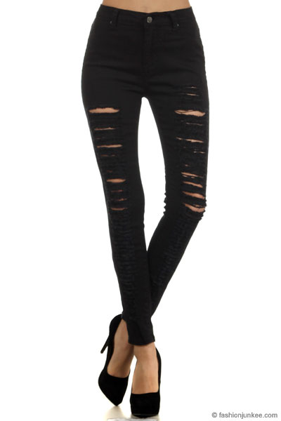 Black Skinny Jeans High Waist