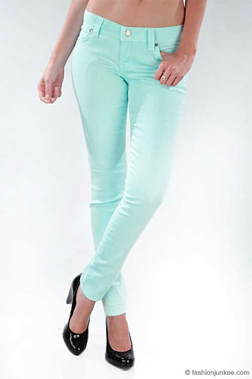 Colored jeans mint – Global fashion jeans collection