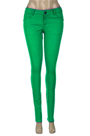 Thick Stretch Sexy Colored Skinny Denim Jeans-Green