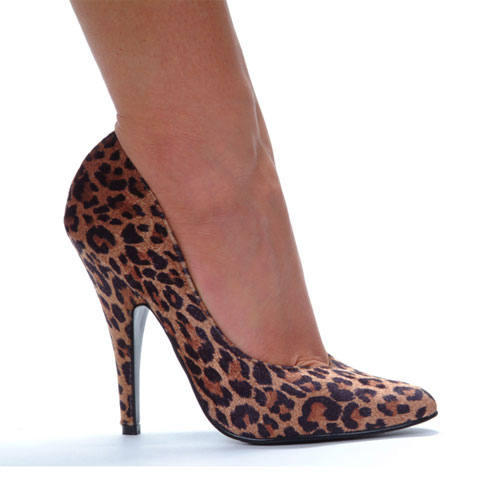 high heel pointy toe shoes leopard