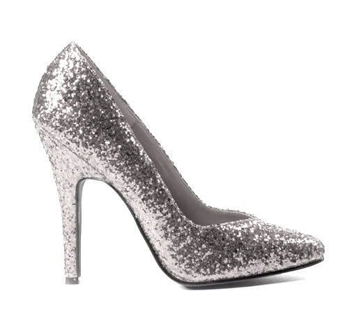 Sexy Glitter Stiletto High Heel Shoes-Silver