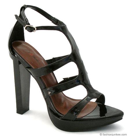 black gladiator heels. Gladiator High Heels-Black
