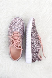 Lace Up Glitter Bomb Sneakers Shoes-Pink - (LIMITED TIME SALE!)