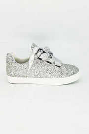 Satin Ribbon Bow Lace Up Glitter Sneakers-Silver- (LIMITED TIME SALE!)