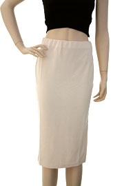 Knee Length Stretch Pencil Skirt with Side Slit-Beige (70% OFF!)
