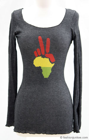 Long Sleeve Omni Peace Tee Thermal-Black from fashionjunkee.com