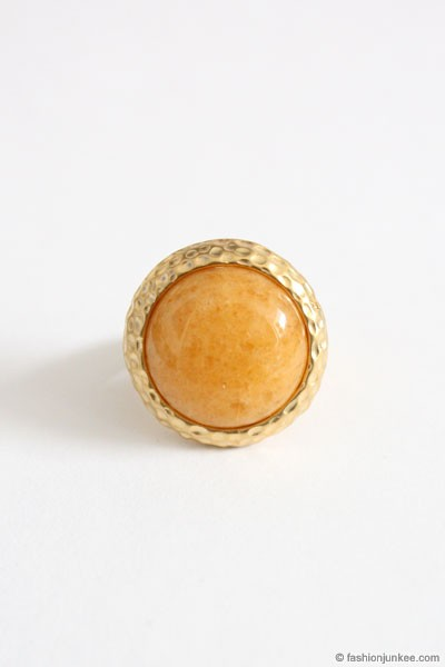 :As Seen In PEOPLE STYLEWATCH Magazine: Faux Marble Ring-Tan Brown