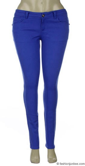 Size Moleton Stretch Sexy Colored Skinny Denim Jeans Jeggings ...