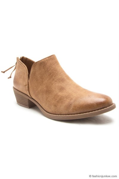 The perfect Basic Ankle Booties-Oil Camel