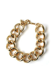 :As Seen In PEOPLE STYLEWATCH Magazine: Metal Chain Link Bracelet-Gold