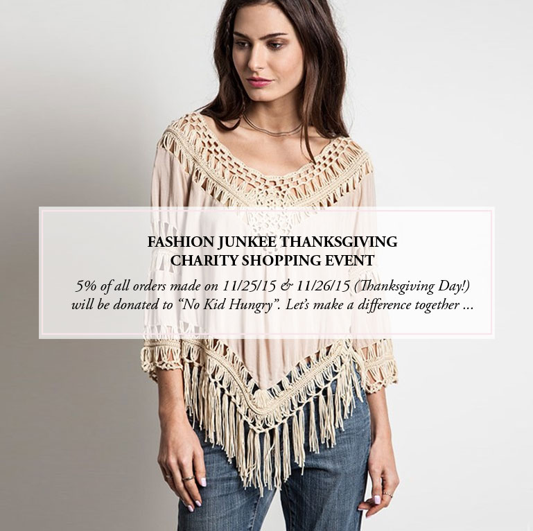 Fashion Junkee - Thanksgiving Charity Shopping Event