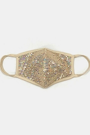 Glitter Washable Face Mask Reusable Cloth Face Covering-Taupe