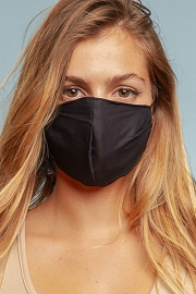 Cotton Washable Face Mask Reusable Cloth Face Covering with Slot for Filter-Black